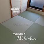 琉球畳東レ敷楽 目積織り 半畳二色市松敷き